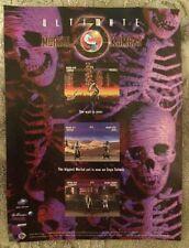 Ultimate Mortal Kombat 3 Poster Ad Print Sega Saturn Retro