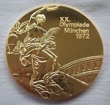 Winner medal   XX.Olympic Games MÜNCHEN 1972 - Gold platet  !!  VERY RARE