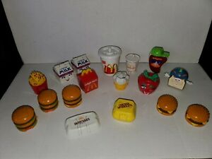 Lot of 17 Vintage McDonald's Food Changeable's Happy Meal Toys 1980's ~ 1990's