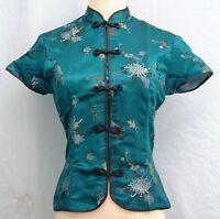 Traditional Chinese Style Brocade Blouse - Size XL Plus (XXL)