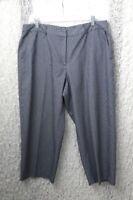 Kim Rogers Womens Capri Pants Size 16 Navy and White Stripes Cotton Blend