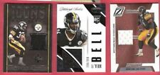 LE'VEON BELL FRANCO HARRIS JEROME BETTIS Rookie & GAME USED JERSEY CARD STEELERS