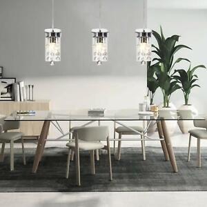 Kitchen 3 Pendant Lighting Fixture Modern Crystal Hanging Ceiling Island Set 3