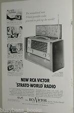 1954 Radio Corp. of America ad, RCA, Strato-World radio