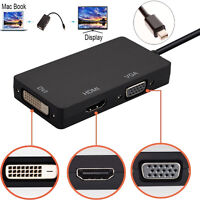 Mini Display Port to DVI VGA HDMI 1080P Thunderbolt Adapter for MacBook Pro/Air