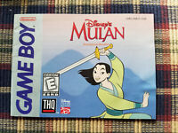 Disney's Mulan - Authentic - Nintendo Game Boy - Manual Only!