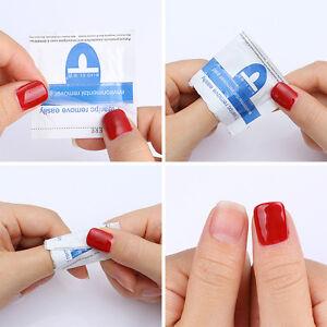 10Pcs Remover Wraps Wet Paper UV Soak Off Gel Polish Pad Foil Nail Art Cleaner