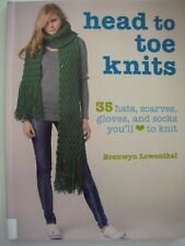 Knitting Pattern Book - HEAD TO TOE KNITS - 35 hats scarves gloves & socks - VGC