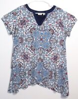 CATO Women's Tunic Stretch Short Sleeve A-line Blouse V-neck Top Size 14-16W