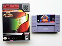 Super Metroid Redesign Game / Case - Custom Fan Made SNES Super Nintendo (USA)
