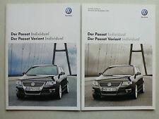 Prospekt Volkswagen VW Passat/Variant Individual, 6.2009, 12 S. + Technik/Preise