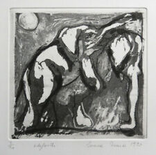 Limited edition original print Etching Elefanti 3/20 Irma Irsara 1990