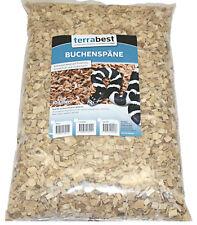 60 Liter Buchenspäne mittel 2 - 6 mm Buchenhack Bodengrund Einstreu Terrarium