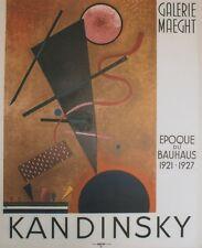 """""""KANDINSKY : EPOQUE DU BAUHAUS 1921-1927 MAEGHT 1960"""" Affiche originale entoilée"""