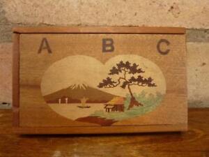 A Nice Vintage Wooden Alphabet Puzzle game