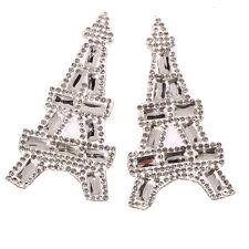 IDM6 8.5cm x 4cm Tour Eiffel Strass Hotfix Motif à repasser sur Appliqué