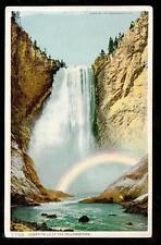 c1907 rainbow Lower Falls of the Yellowstone National Park landscape postcard