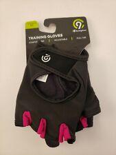 Women's training gloves medium black & pink new