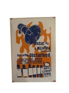 Disturbed silkscreen Poster Music As A Weapon