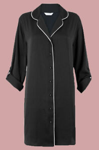 Ex M*S Satin Nightshirt Button Up Nightie Shirt Ultimate Relax All Sizes (G4)