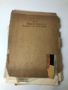 1940s Skip Dolan Australian Gem Comics Archive With Scripts & Sketches Jon Hill