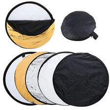 5 en 1 80cm Photo Studio Plegable reflector de luz múltiples caso para la fotografía