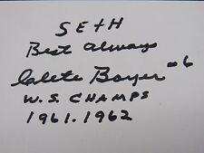 Clete Boyer Great Signed Autograph 3X5 index JSA #224 jh