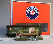 LIONEL GOLD MEDAL MILK CAR PLATFORM & MILK CANS O GAUGE train refer 6-83252 NEW