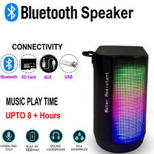 Bluetooth Wireless Portable Speaker High Quality Rechargeable Led Travel Speaker