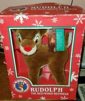 VINTAGE APPLAUSE PLUSH RUDOLPH THE RED-NOSED REINDEER STUFFED TOY ROBERT L. MAY