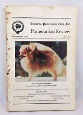 American Pomeranian Club Review Magazine Anniversary Issue 1958-78 Champion Dogs