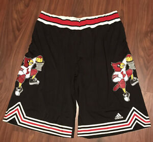 2018 AUTHENTIC LOUISVILLE CARDINALS THROWBACK TEAM ISSUED ADIDAS SHORTS 2XL+4