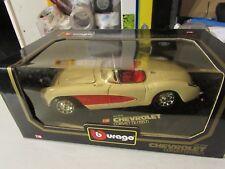 Bburago 1:18 Chevrolet Corvette (1957) White