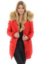 Marikoo Damen Kunstfell Parka Karmaa Mantel Winter jacke große Kapuze warm 80001