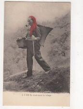En Route Pour Le Village Vintage Postcard Switzerland 392a