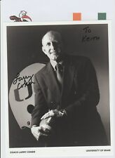 LARRY COKER MIAMI HURRICANES HEAD COACH 2001-2006 ORIGINAL HAND SIGNED PHOTO