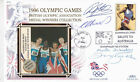 1996 Olympic Games Medal Winners Collection Mens 4x400m Relay Cover Signed