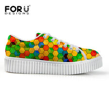 Ladies Trainers Creepers Flat Platform Skater Goth Punk Sneakers Fashion Shoes