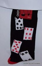 Playing Cards on black Mens/Womens Socks