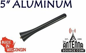 "**SHORT** 5"" BLACK BILLET ALUMINUM ANTENNA MAST - FITS: 17-2020 Fiat 124 Spider"