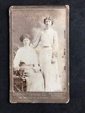 Victorian Carte De Visite CDV: Two Ladies: London Portrait Co: Maidstone Cardi