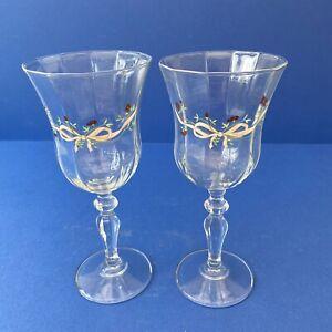 Pair of Johnson Brothers Eternal Beau Hock/Wine Glasses