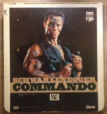 Commando CED Videodisc Ntsc Arnold Schwarzenegger/Rae Dawn Chong