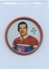 62-63 SHIRRIFF HOCKEY COIN #28 PHIL GOYETTE CANADIENS
