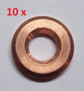 10 Stück Dichtring 1117626010 für TOYOTA Diesel Injektor Einspritzdüse 3,0 mm