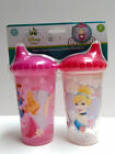 Toddler 2pk Spill Proof Licensed 10oz Sippy Cups Tumbler Mickey Minnie Princess+