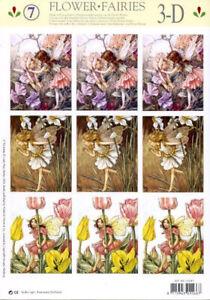 Flower Fairies -various- 2*Non-die-cut Studio Light Decoupage / Pyramage