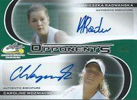 2017 Leaf Signature Series Tennis #O-01 3/5 Opponents Radwanska Wozniacki