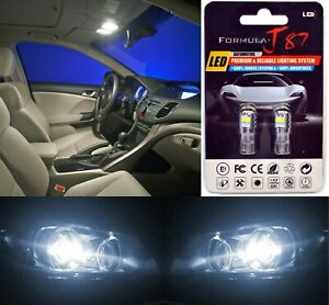 LED 3030 Light White 5000K 194 Two Bulbs License Plate Tag Replace Lamp Philips