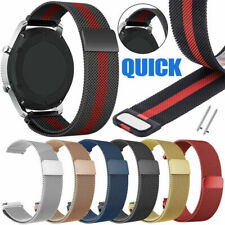 US For Samsung Galaxy Watch 46mm/Gear S3 Milanese Magnetic Loop Mesh strap band